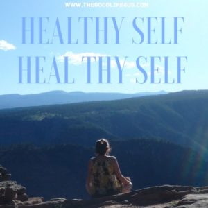 """Healthy Self Heal Thy Self"" Marcy Meditating at Red Canyon Overlook in Northeastern Utah"