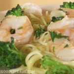 Quick Shrimp Scampi with Broccoli and Angel Hair Pasta
