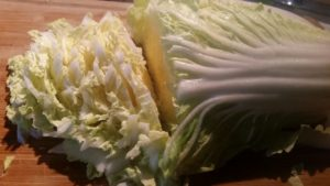 Sliced Napa Cabbage for Better than Chinese Restaurant Soup