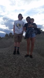 Me with my oldest son (17) and my youngest son (2) near Fantasy Canyon.
