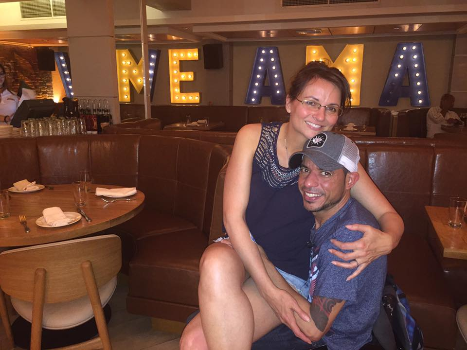 Marcy and Orlando at Serafina Restaurant, Condado, Puerto Rico. The best place to get italian on the island.