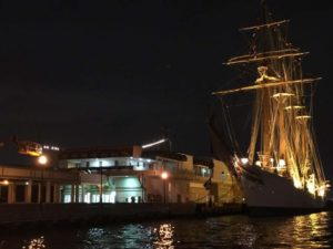 Old San Juan Port, Puerto Rico at night