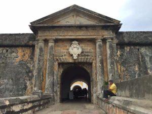 Entrance to Castillo San Felipe del Morro, Puerto Rico.