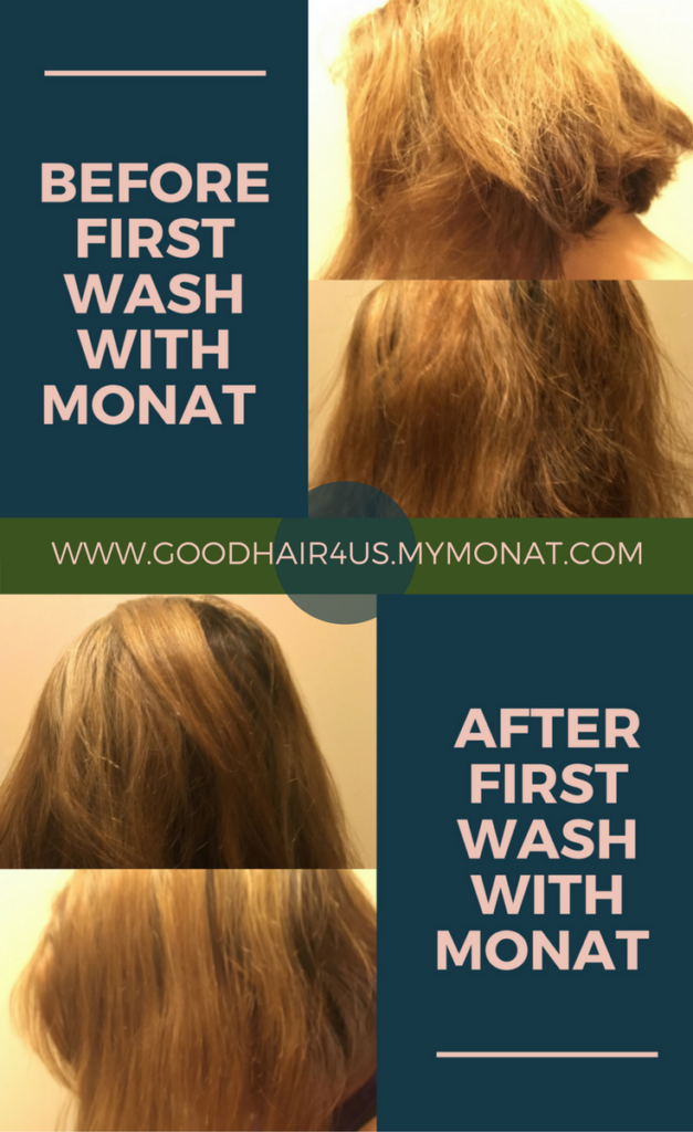 1st day review of MONAT naturally based hair care systems
