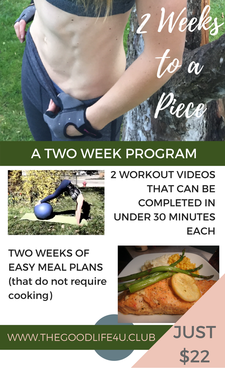 Two Weeks to a Two Piece - Two workouts plus meal plans for $22