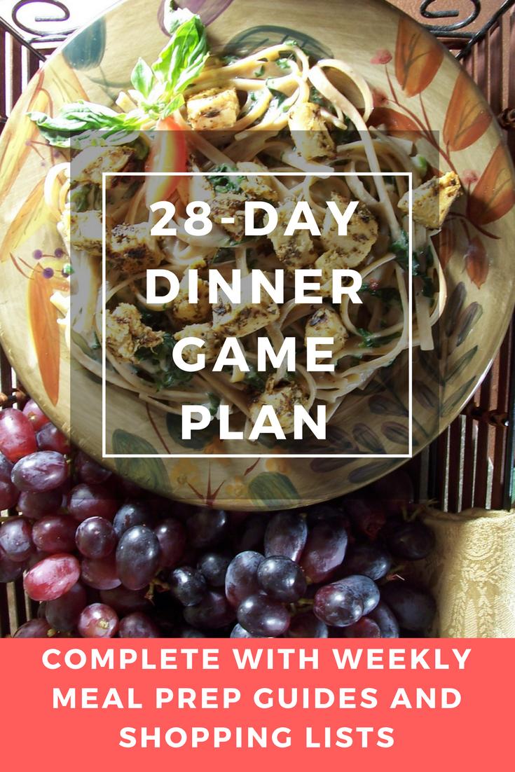 28-day dinner game plan pin